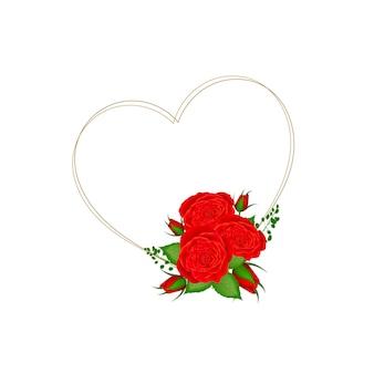 Cornice d'amore con fiore vintage
