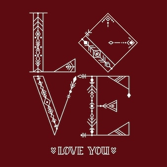 Amore. manifesto di tipografia disegnato a mano. per biglietti di auguri, san valentino, matrimoni, poster, stampe o decorazioni per la casa. illustrazione vettoriale