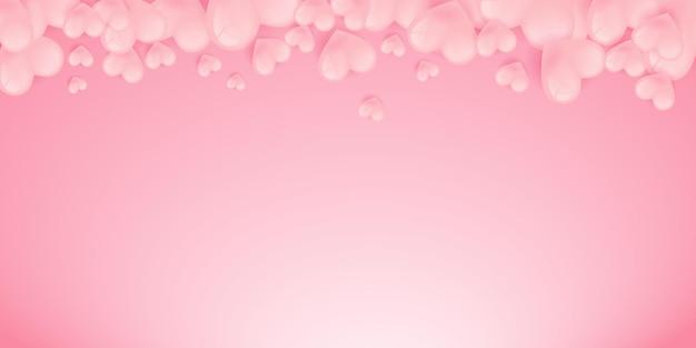 Amore cuore forme banner con cuori origami in carta tagliata modello di disegno di stile