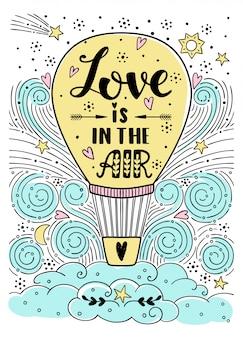L'amore è nell'illustrazione dell'aria