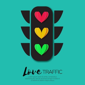 Amore luci. semafori