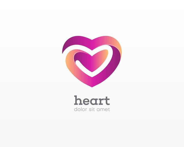 Logo amore. logo dell'amore forte