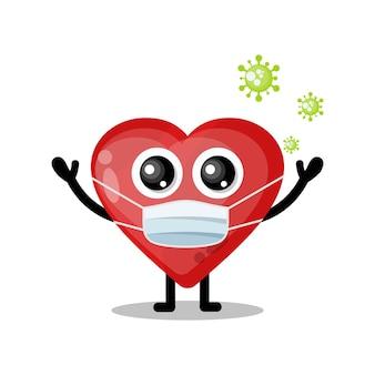 Amore maschera virus simpatico personaggio mascotte