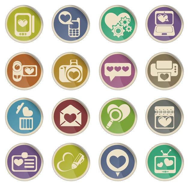 Messaggi d'amore semplicemente simbolo per le icone web