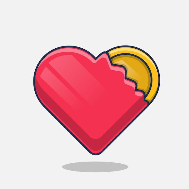 Amore soldi icona fumetto illustrazione