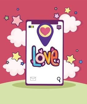 Puntatore d'amore sullo schermo