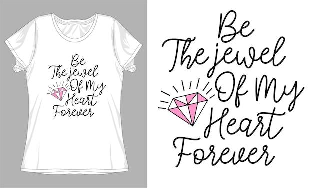 Amore citazione tipografia t shirt design