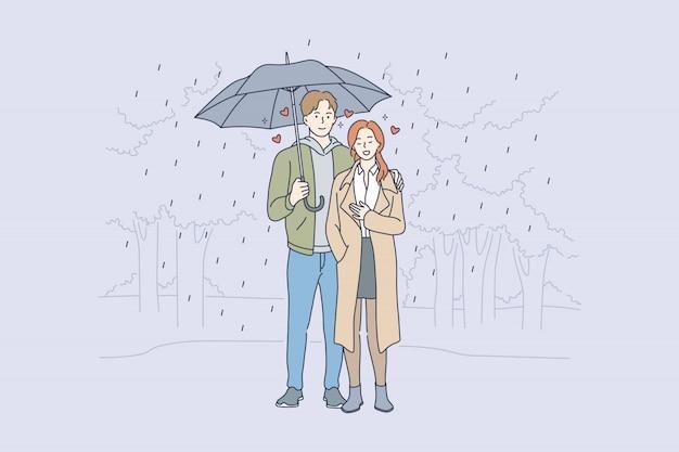 Amore, relazione, concetto di romanticismo