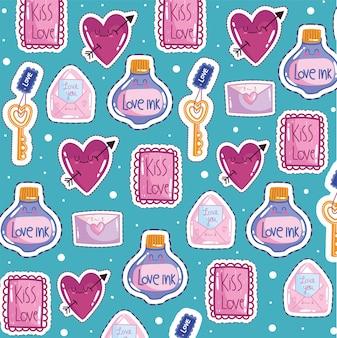 Adoro gli adesivi romantici