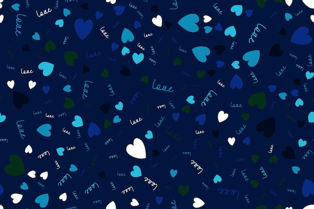 Fondo senza cuciture di amore con i cuori. illustrazione vettoriale eps10