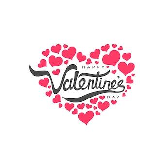 Amore forma felice giorno di san valentino illustrazione