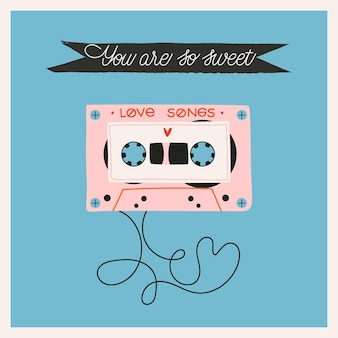 Cartolina d'auguri di san valentino del nastro di amore