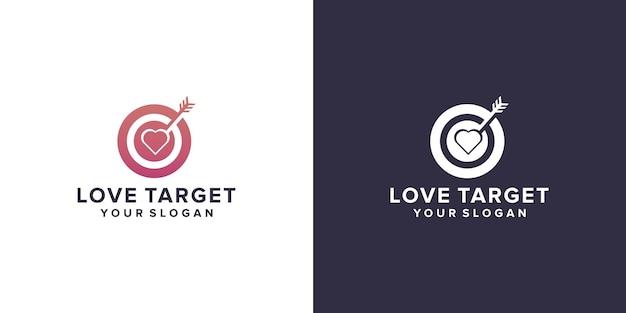 Modello di logo di destinazione d'amore