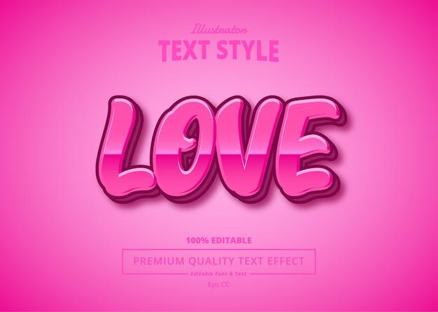 Amore effetto testo