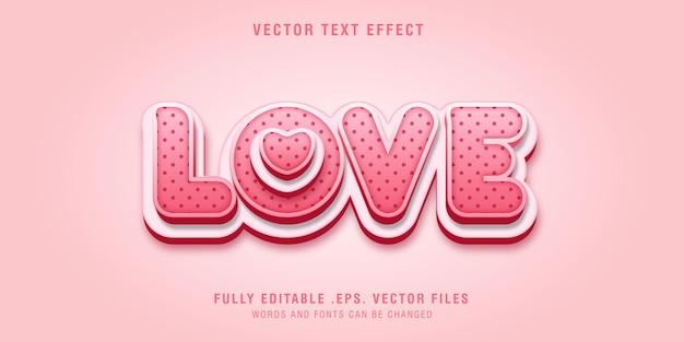 Amore effetto stile testo modificabile