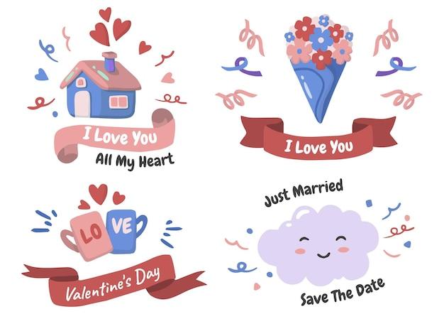 Set di temi d'amore