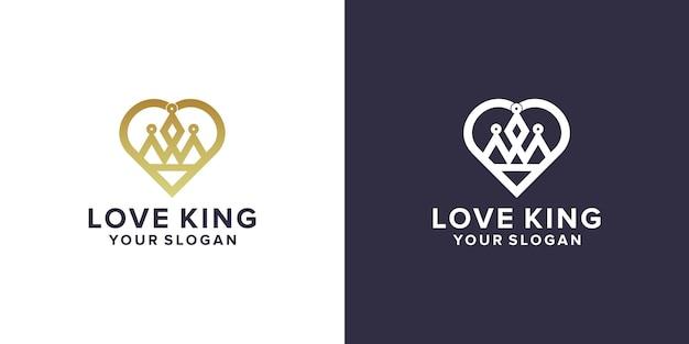 Amore con il design del logo del re