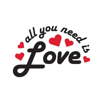 Parole d'amore per auguri romantici di auguri di san valentino nel vettore gratuito