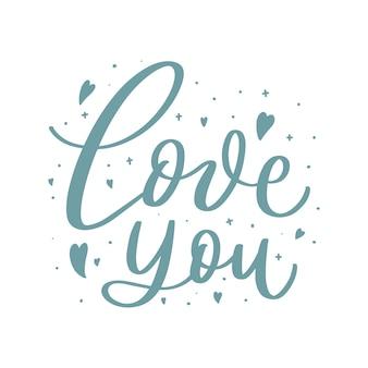 Ti amo lettering doodle