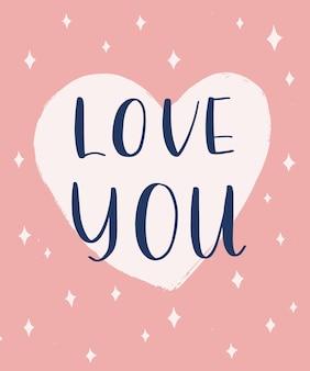 Ti amo scritte.