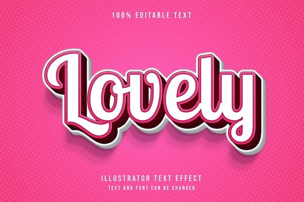 Bello, 3d testo modificabile effetto rosa gradazione ombra testo stile