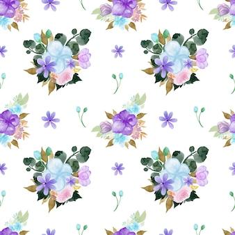 Modello senza cuciture floreale colorato incantevole