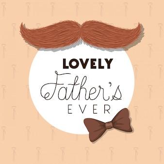 I padri adorabili hanno sempre disegnato baffi e papillon