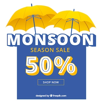 Bella composizione di vendita stagione dei monsoni