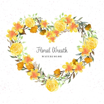 Bella ghirlanda floreale rustica con fiori selvatici