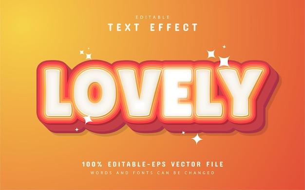 Incantevole effetto di testo con sfumatura arancione