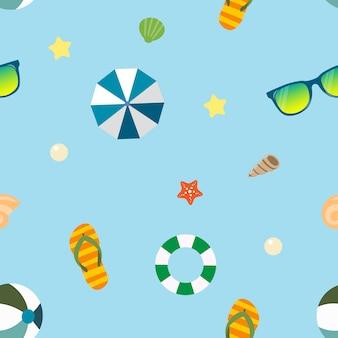 Bella estate tropicale pattern senza soluzione di continuità Vettore Premium