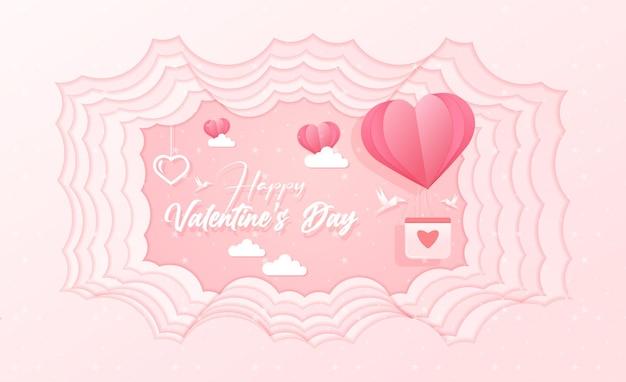 Bella carta da parati di san valentino in stile carta