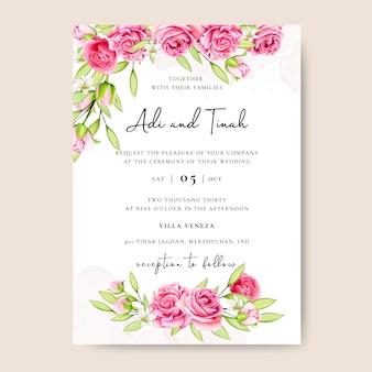 Bel modello di invito a nozze
