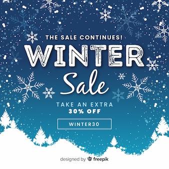 Incantevole sfondo di vendita invernale