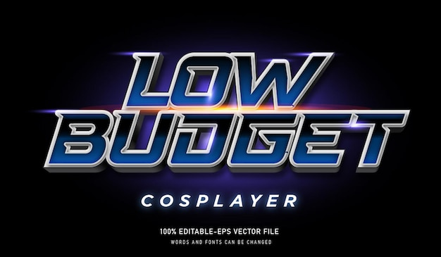Cosplayer a basso budget effetto testo e font modificabile
