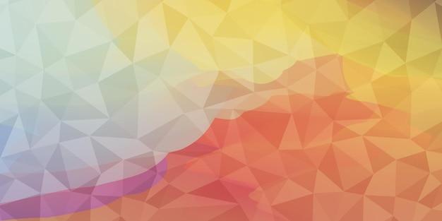 Disegno geometrico di vettore di sfondo basso poli