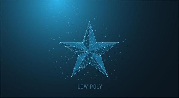 Design a stella blu in stile low poly con tecnologia a linee geometriche