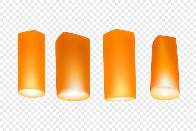 Loy krathong festival lanters clipart isolato su sfondo trasparente