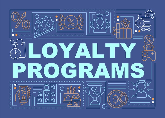 Banner di concetti di parola blu programmi fedeltà