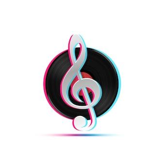 Icona lp record, oggetto musicale gramophone, disco in vinile, illustrazione vettoriale