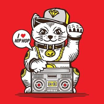 Lucky cat hip hop music