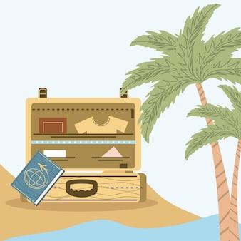 Bagagli in spiaggia