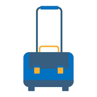 Icona di bagagli. simbolo della valigetta. bottone da viaggio. illustrazione grafica vettoriale piatta isolata su sfondo bianco