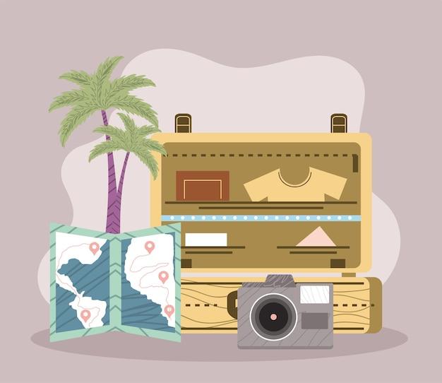Icone di bagagli e turismo