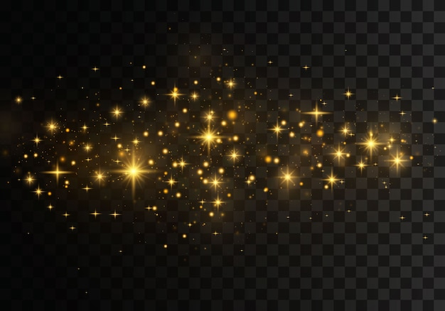 Effetto bokeh di luci luminose. scintillanti particelle di polvere magica.