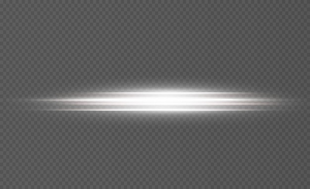 Linee bianche luminose di luce di velocità effetto incandescente linee di movimento astratte onda di scia luminosa