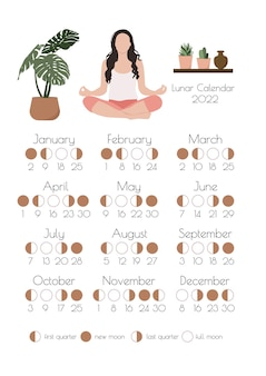 Calendario lunare calendario delle fasi lunari del 2022