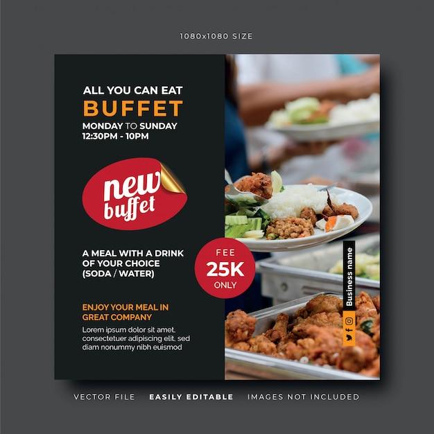 Pranzo a buffet banner social media