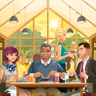 Pranzo con i colleghi