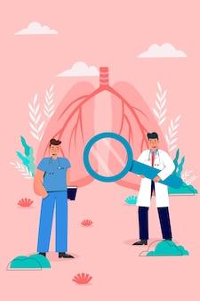 Assistenza sanitaria ai polmoni